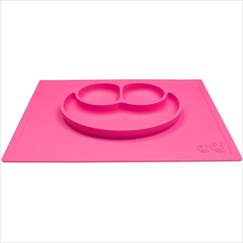 ezpz Less Mess Happy Mat  Plate and Placemat in Pink