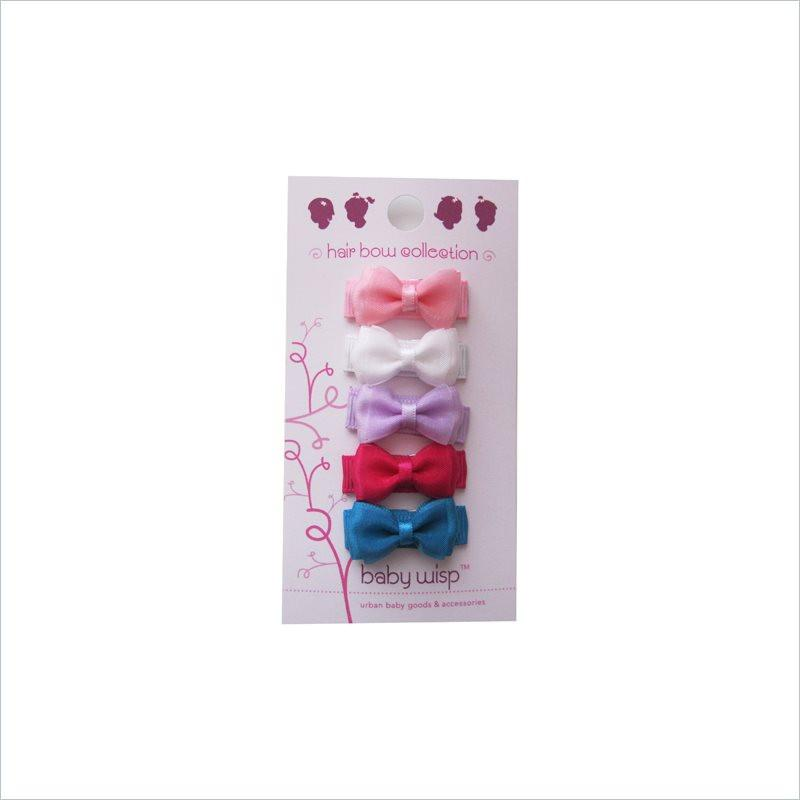 Baby Wisp Small Snap Chic 5 Pack in Light Organza Bows
