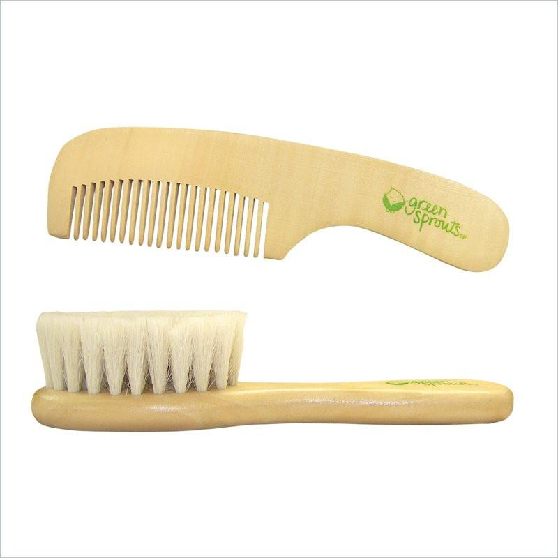 Green Sprouts Wooden Brush and Comb set