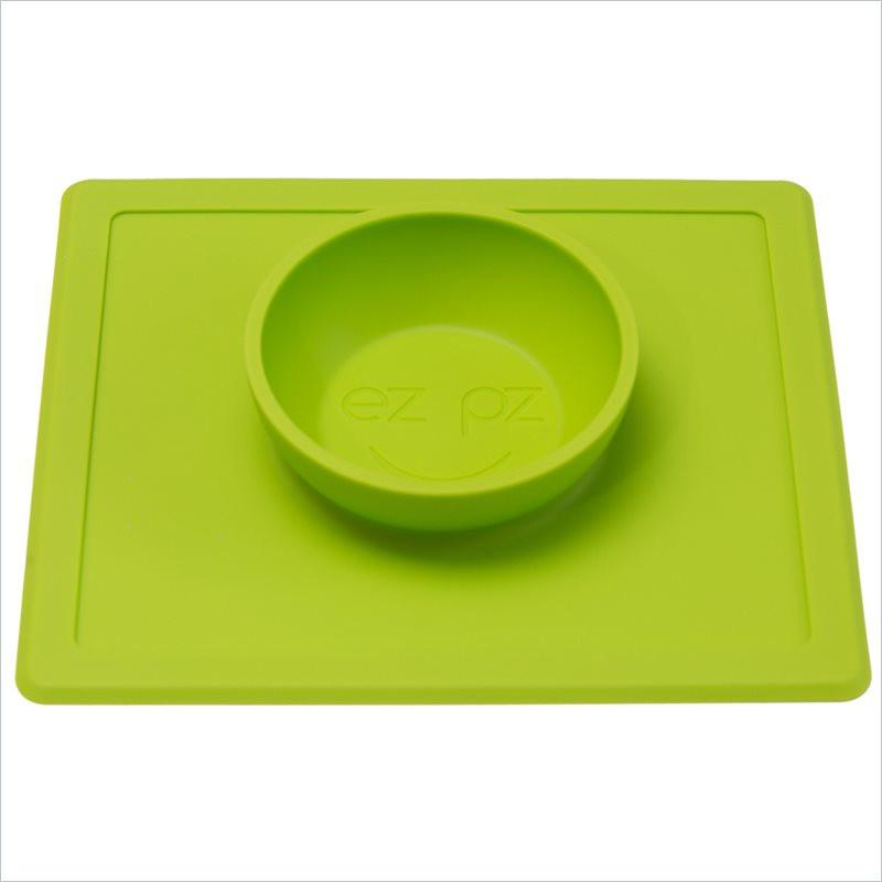 ezpz Happy Bowl and Placemat in Lime