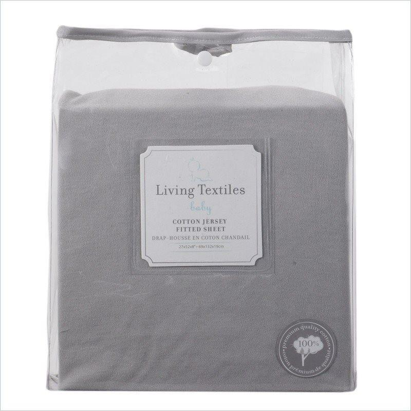 Living Textiles Bennet Jersey Fitted Sheet in Grey