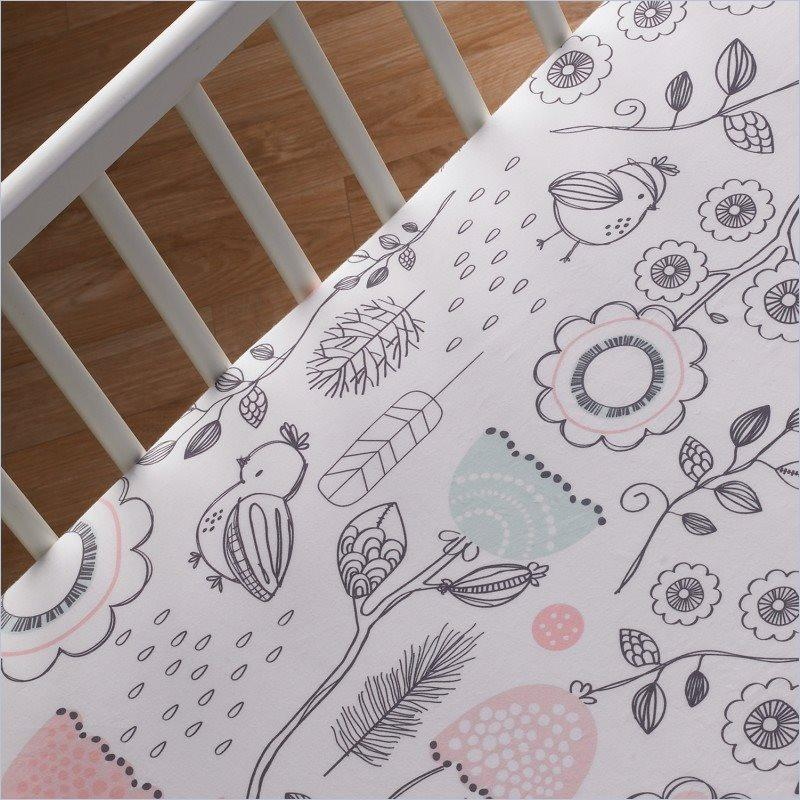 Living Textiles Sparrow Fitted Sheet Sparrow Print