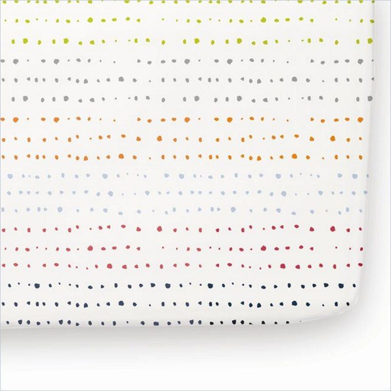 Pehr Painted Dots Crib Sheet
