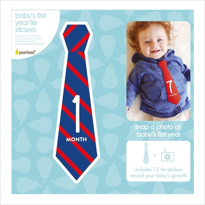 Pearhead Milestone Baby's First Year Tie Stickers