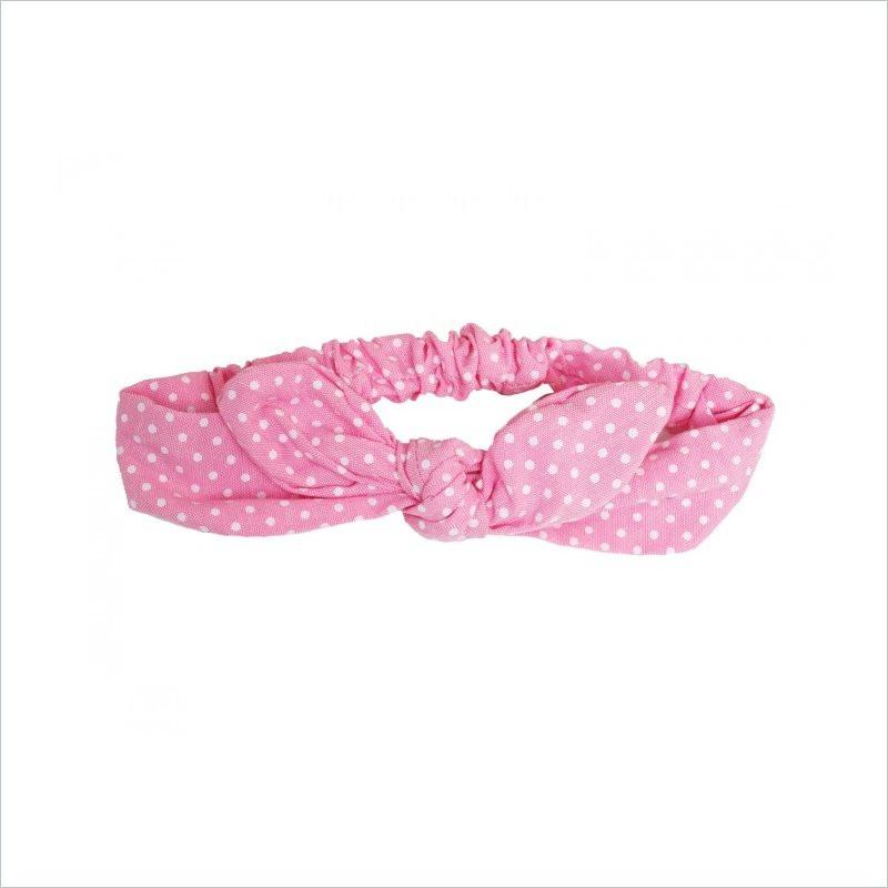 Bunnyears One Size Headband in Pink Polka Dot