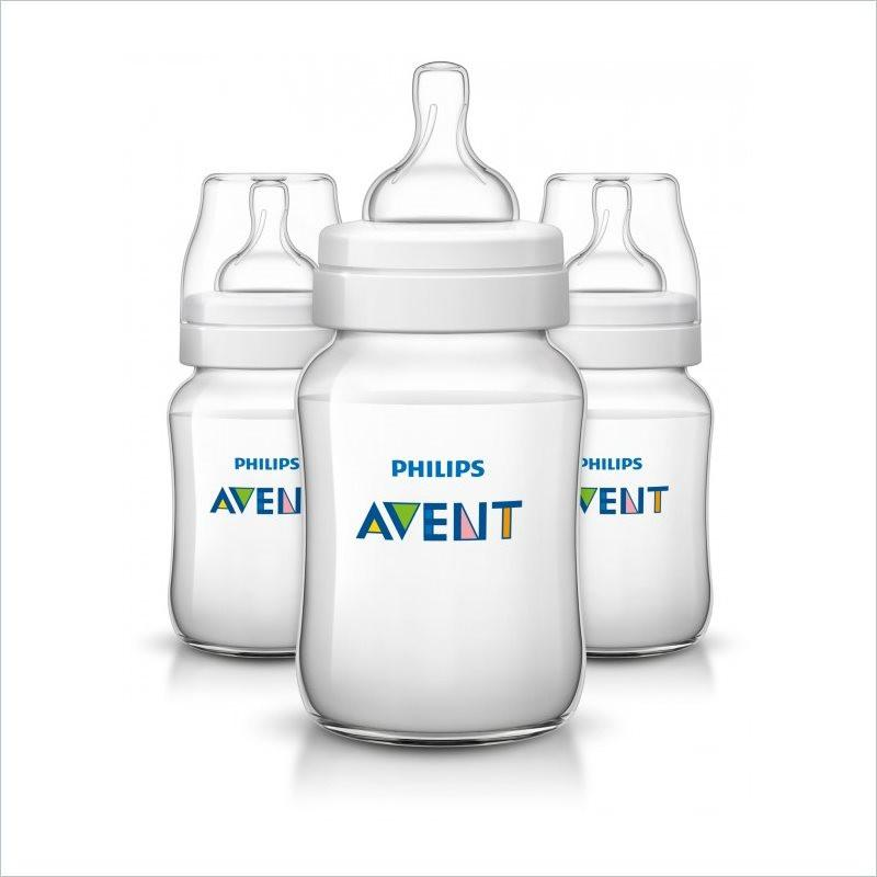 Philips Avent Classic+ 9oz Baby Bottle (Set of 3)