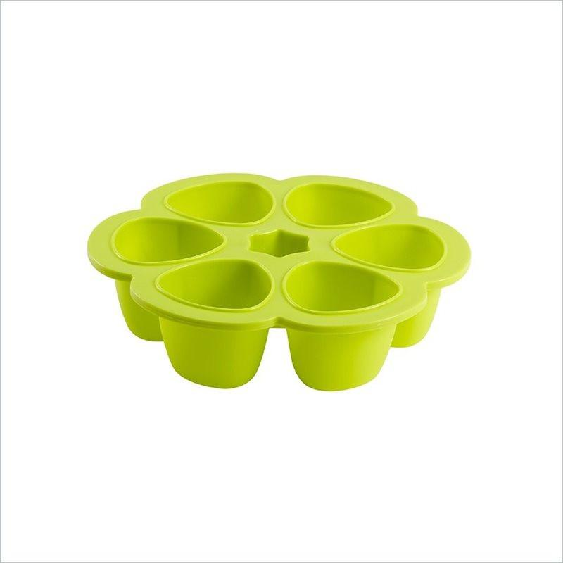 Beaba Multiportions 3oz Silicone Tray with Cover in Neon