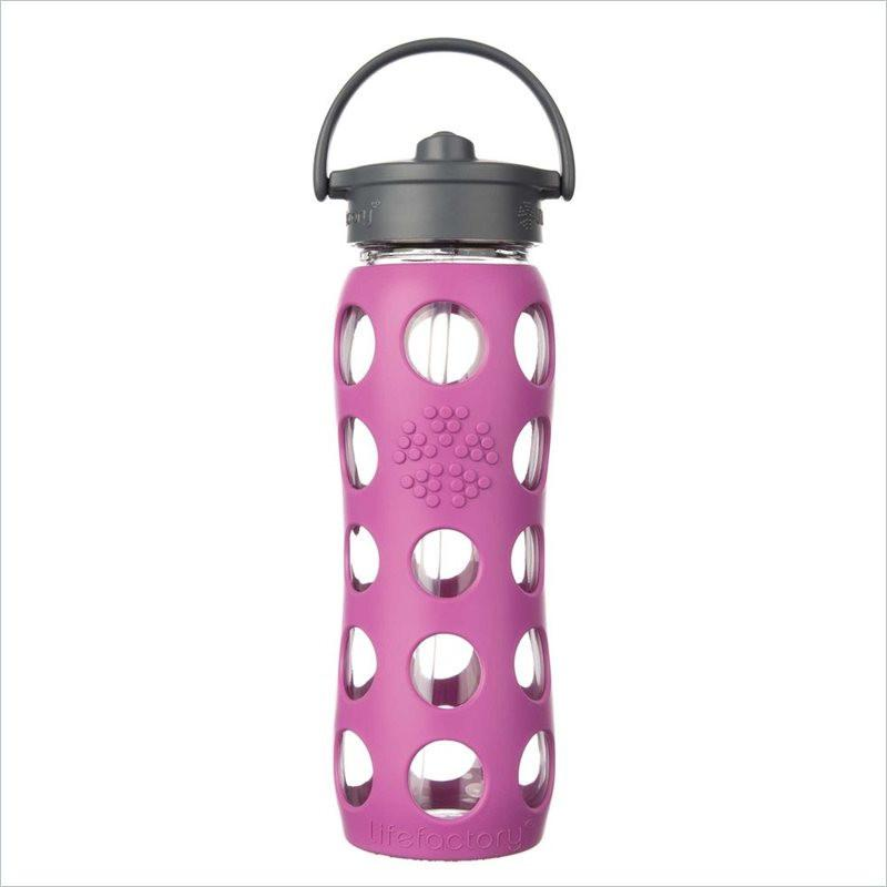 Lifefactory 22oz Glass Bottle w/ Silicone Sleeve in Huckleberry