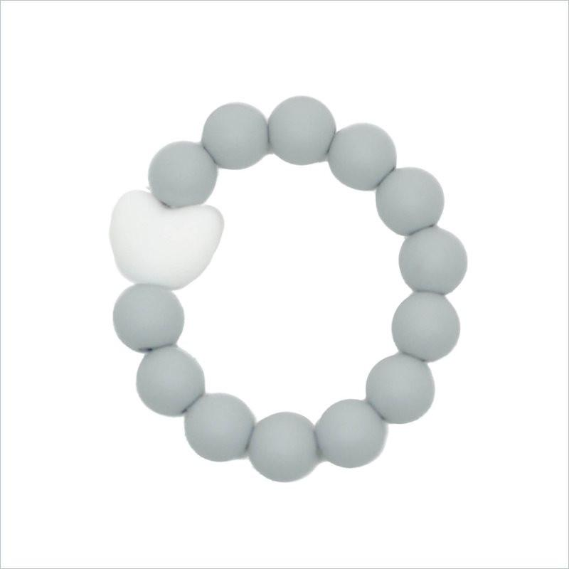 Glitter & Spice Kids Love Teething Bracelet in Feather Gray