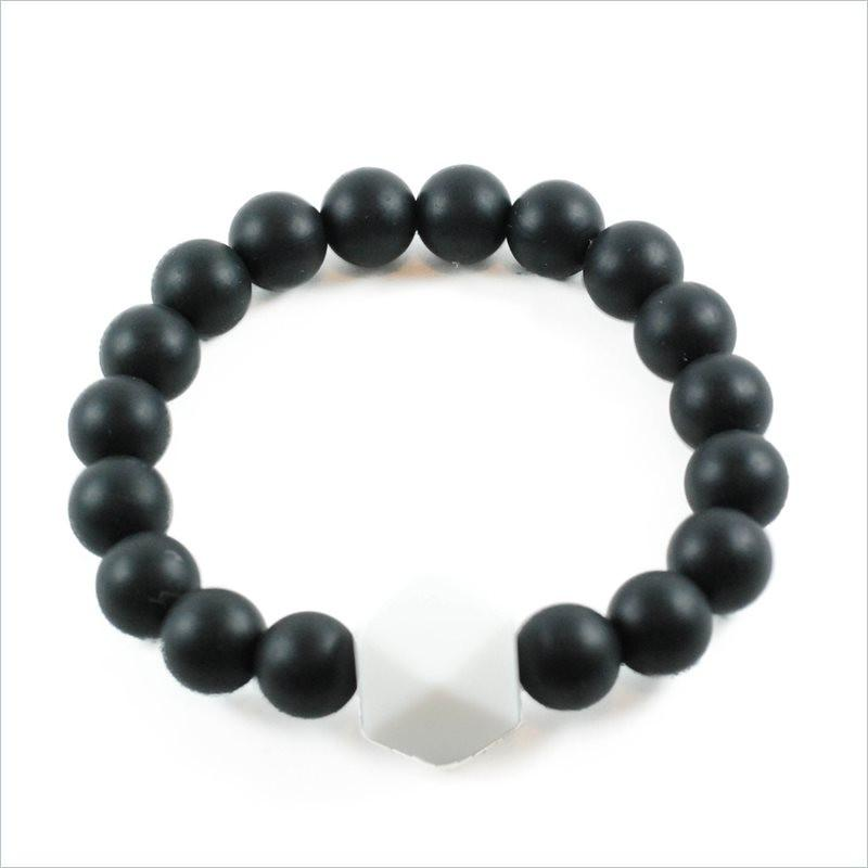 Glitter & Spice Adult Gemstone Teething Bracelet in Black