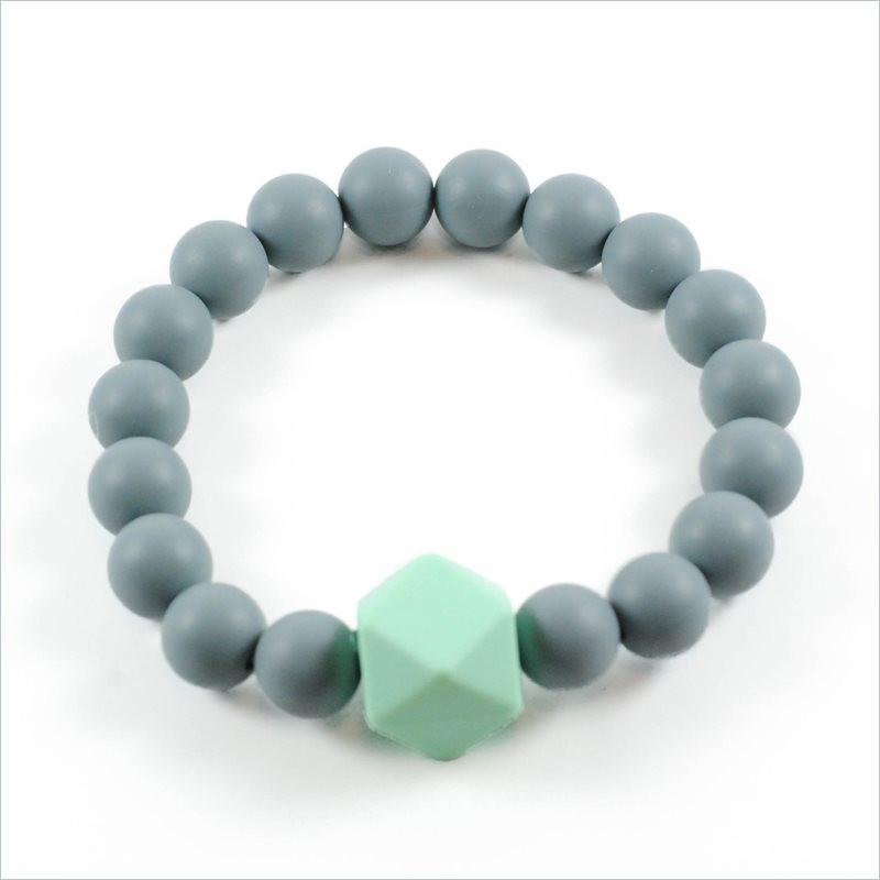 Glitter & Spice Adult Gemstone Teething Bracelet in Gray
