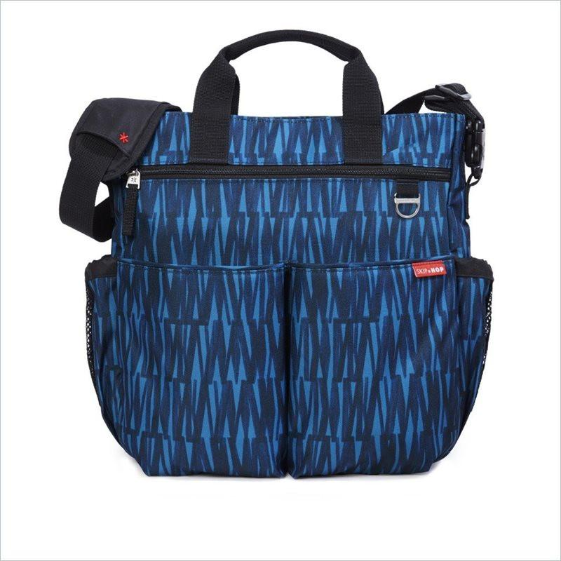 Skip Hop Duo Signature Diaper Bag in Blue Graffiti