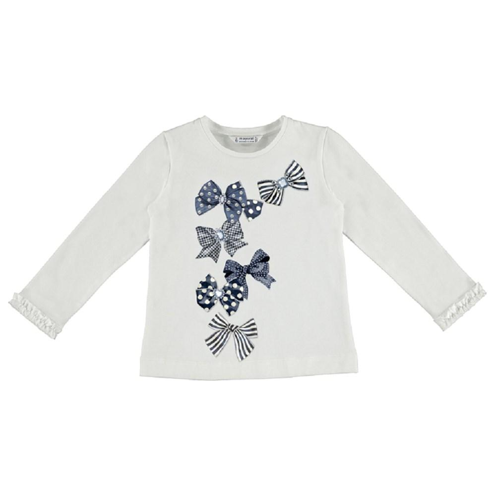 Mayoral Long sleeved t-shirt with ruffled cuffs for girl