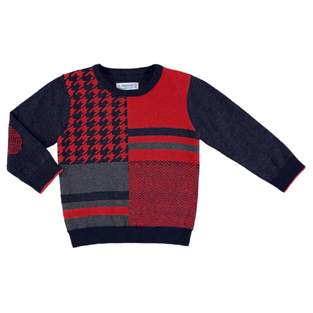 Mayoral Block print formal jumper for boy