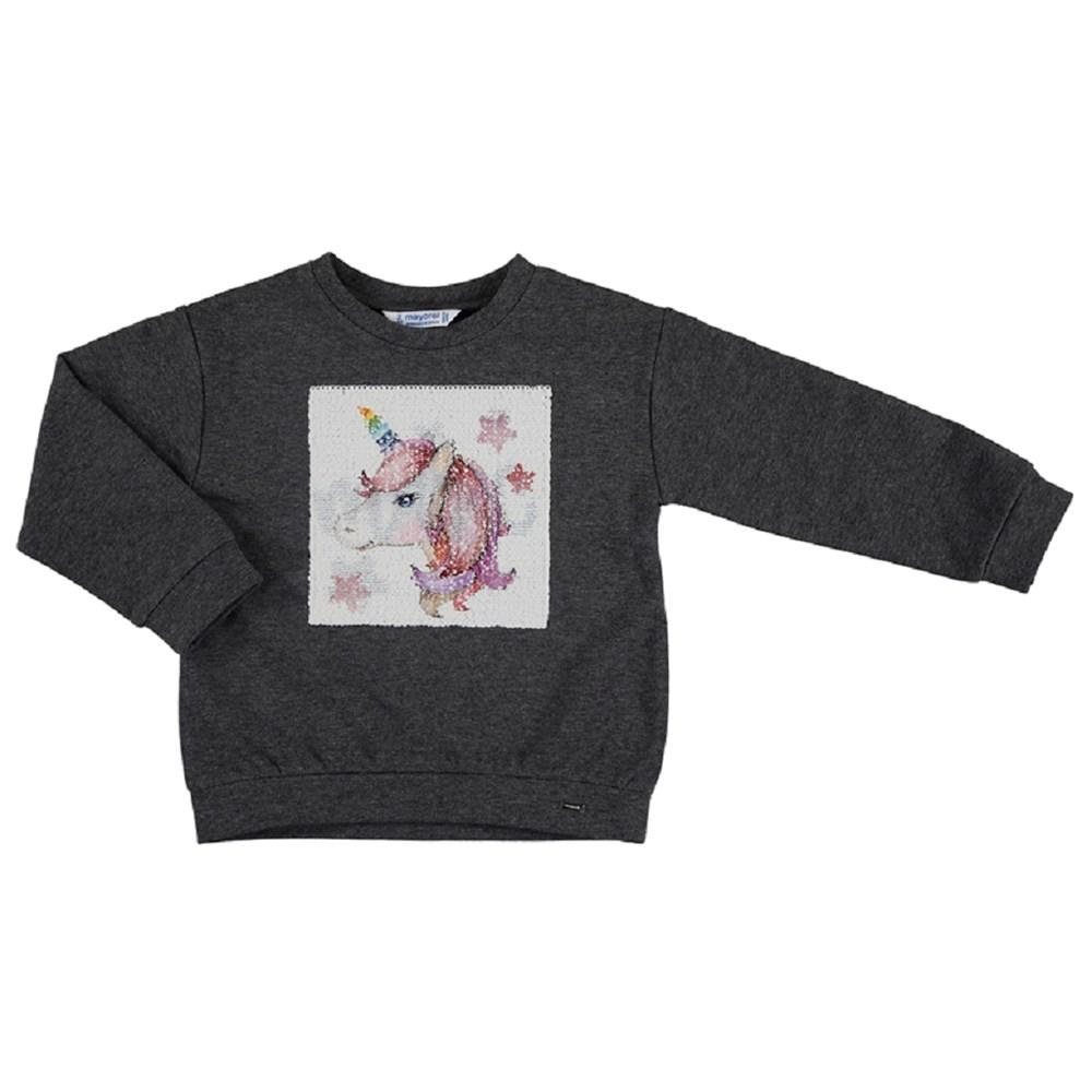 Mayoral Basic sweatshirt with design for girl