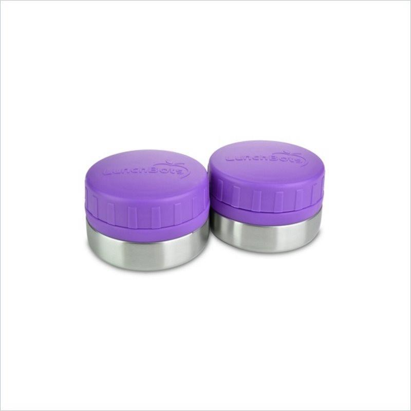 LunchBots 4 oz. Rounds with Purple Lid (Set of 2)
