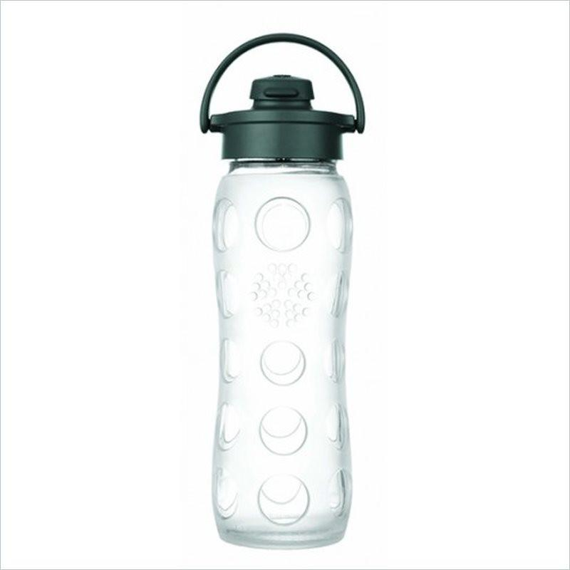 Lifefactory 22oz Flip Cap Glass Bottle in Clear