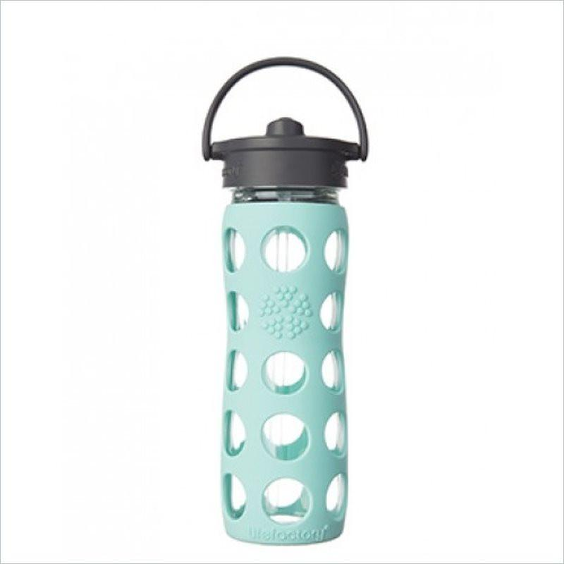 Lifefactory 16oz Straw Cap Glass Bottle in Turquoise