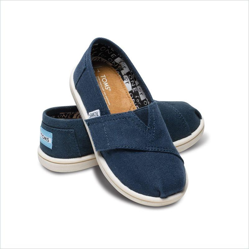 Tiny TOMS Classics Kids Shoes in Navy