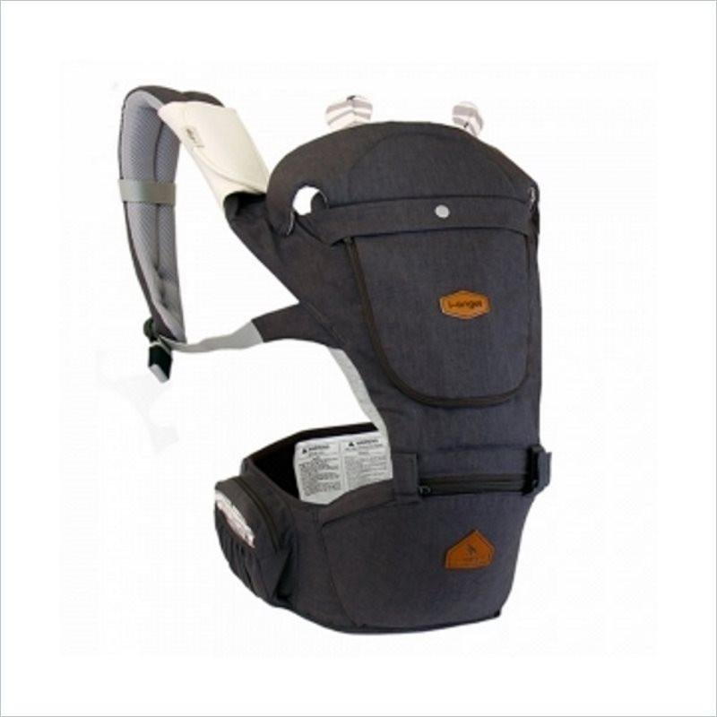 I-Angel Hello Hipseat Carrier in Charcoal Grey