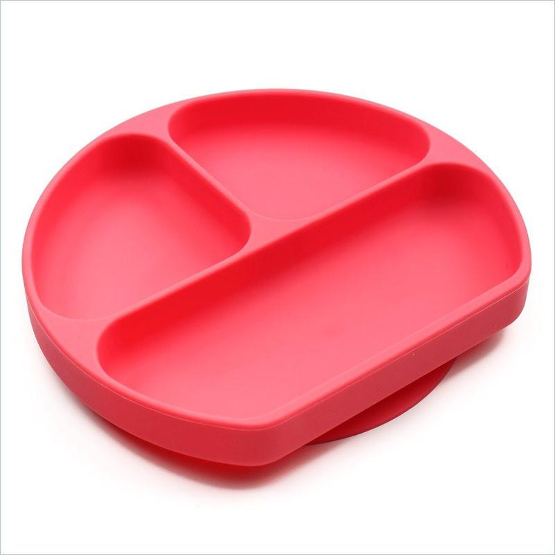 Bumkins Silicone Grip Dish Red