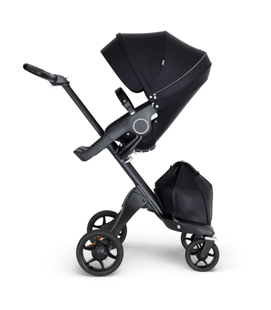 Stokke Xplory V6 Stroller in Black Chassis + winter kit in Bronze Brown (Floor Model)