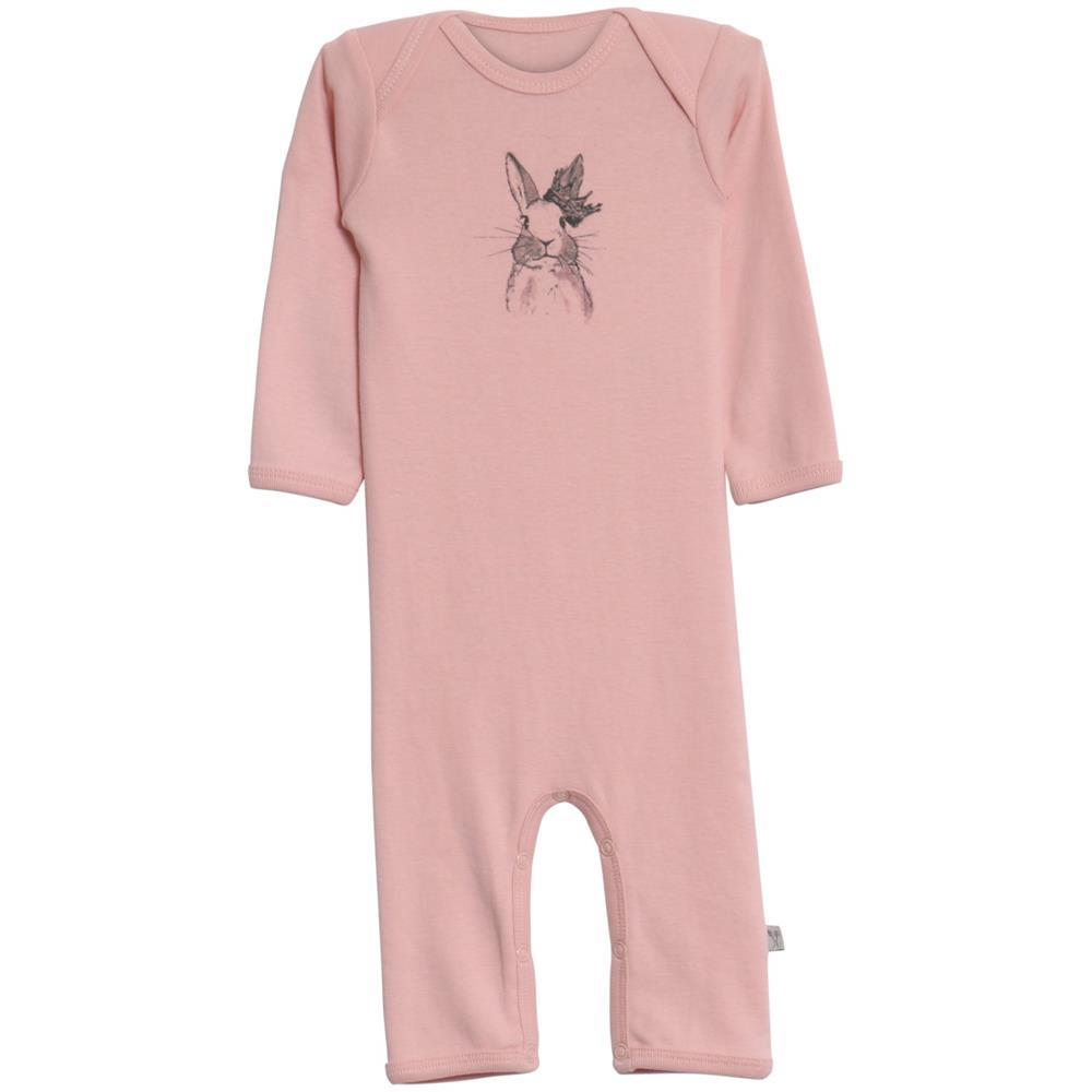 Wheat Kids Clothing Jumpsuit Frill Rabbit in Soft rose