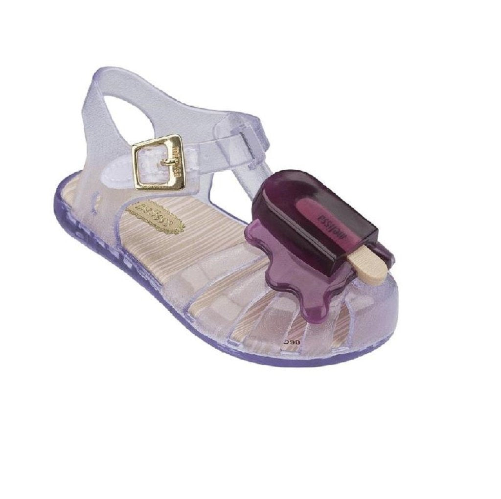 MINI MELISSA ARANHA VIII SHOE in GLITTER CLEAR/PINK