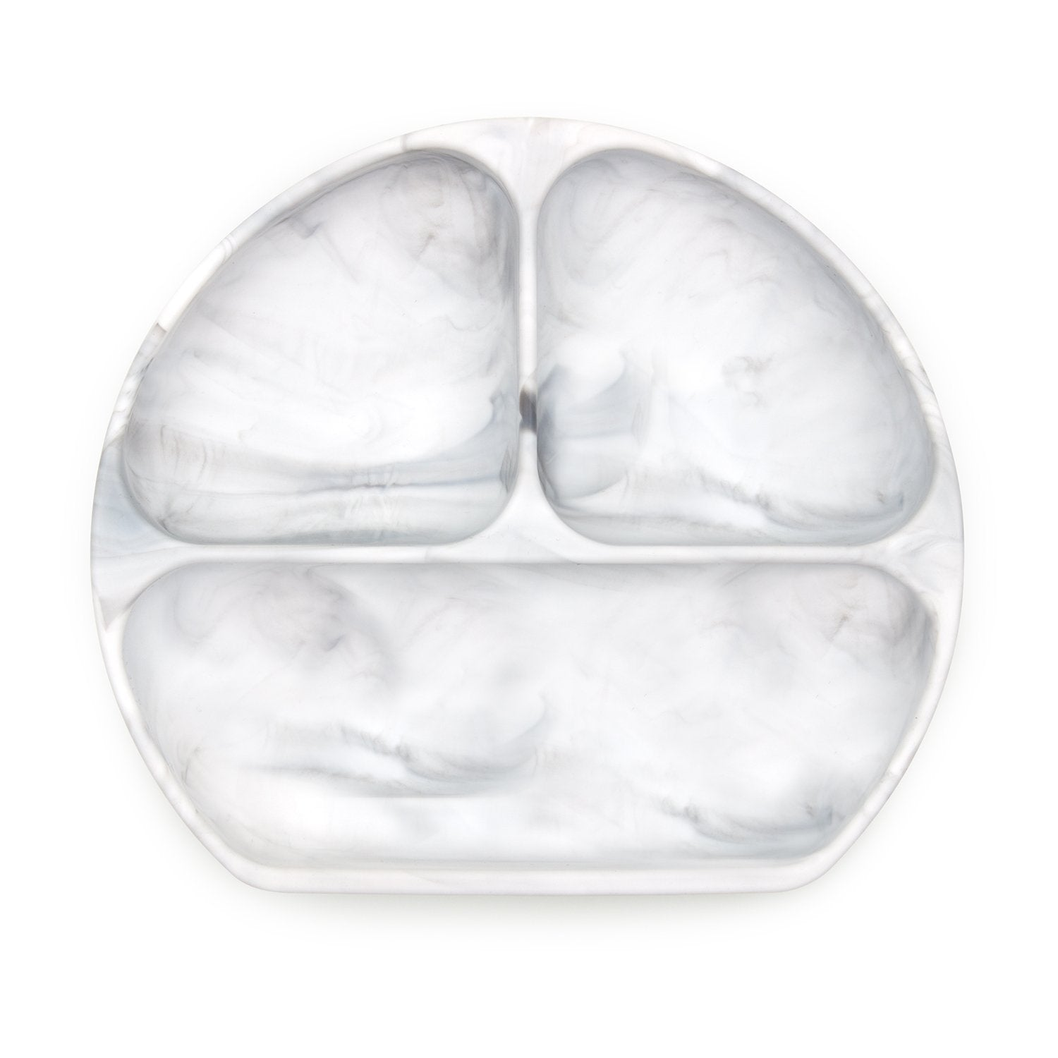 Bumkins Silicone Grip Dish in Marble