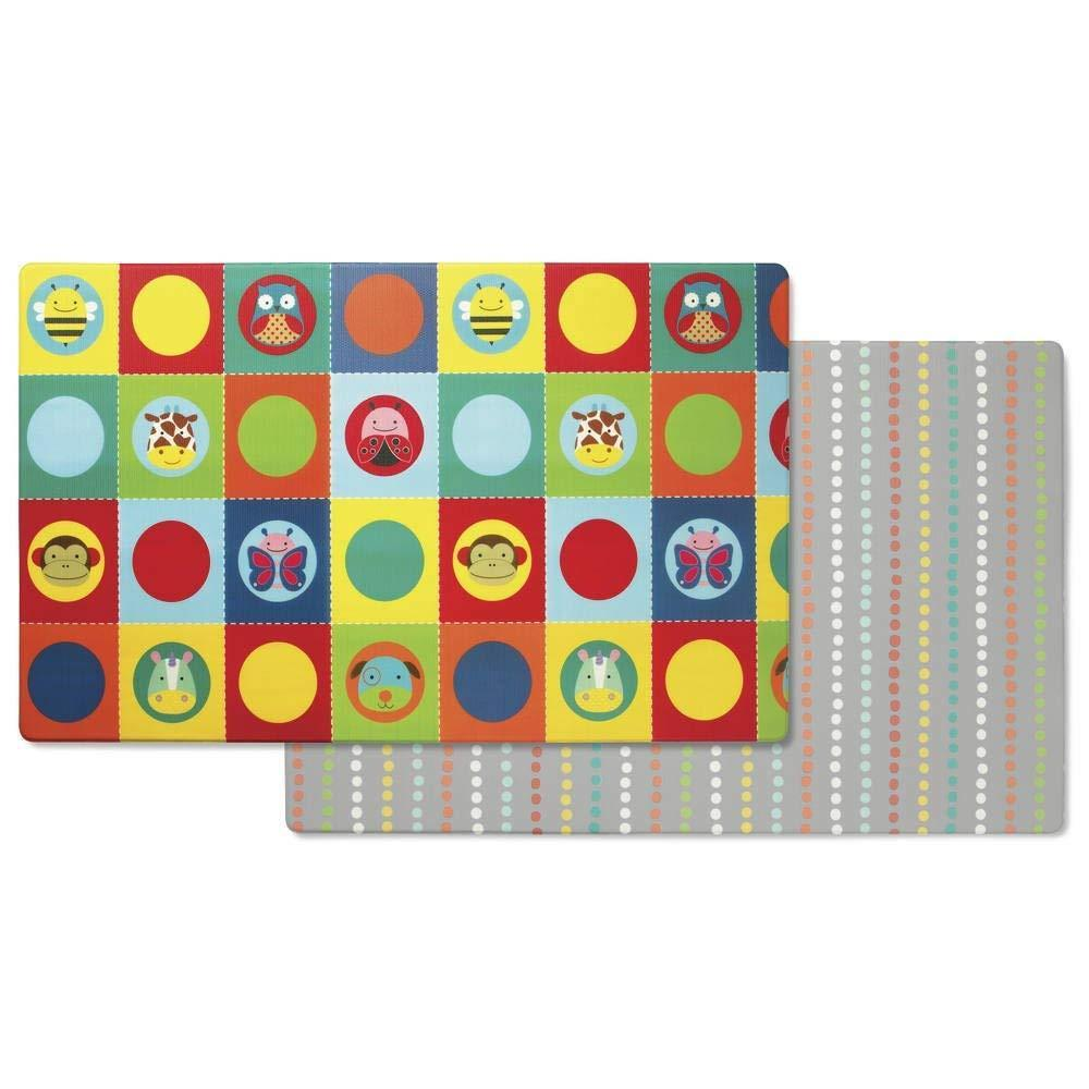Skip Hop Reversible Playmat, Zoo/Multi Dots