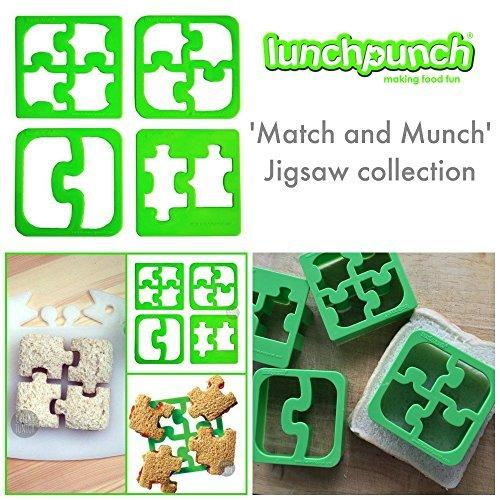 Lunch Punch Match & Munch Sandwich Cutter Set in Green