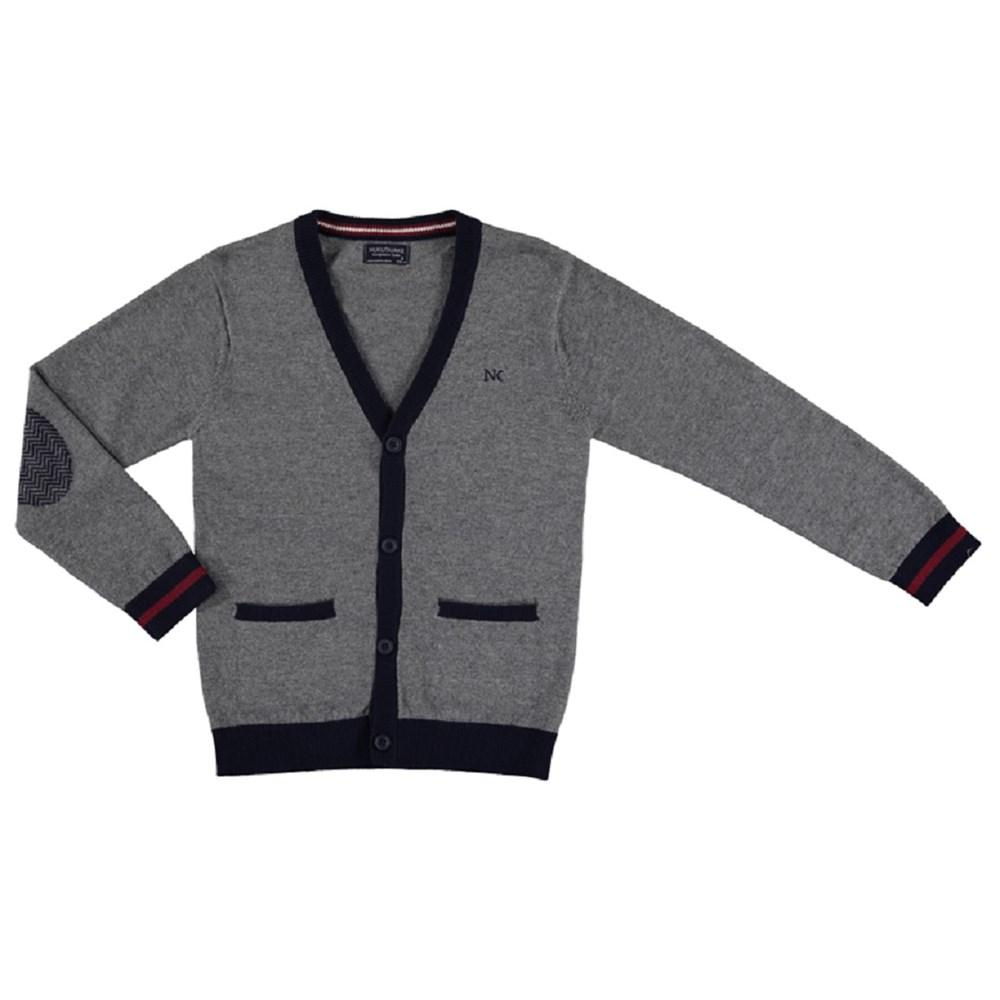 Mayoral V-neck woven knit cardigan for boy