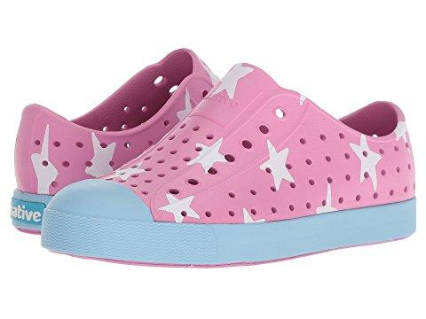 Native Shoes Jefferson Print Child in MALIBU PINK / SKY BLUE / BIG STAR