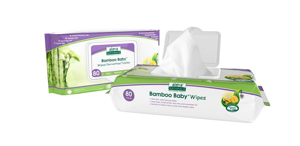 Aleva Naturals Bamboo Baby Wipes - 80 Pack