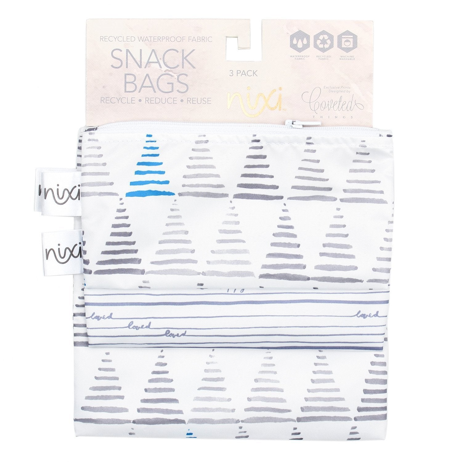 Bumkins Nixi Recycled Snack Bag 3pk