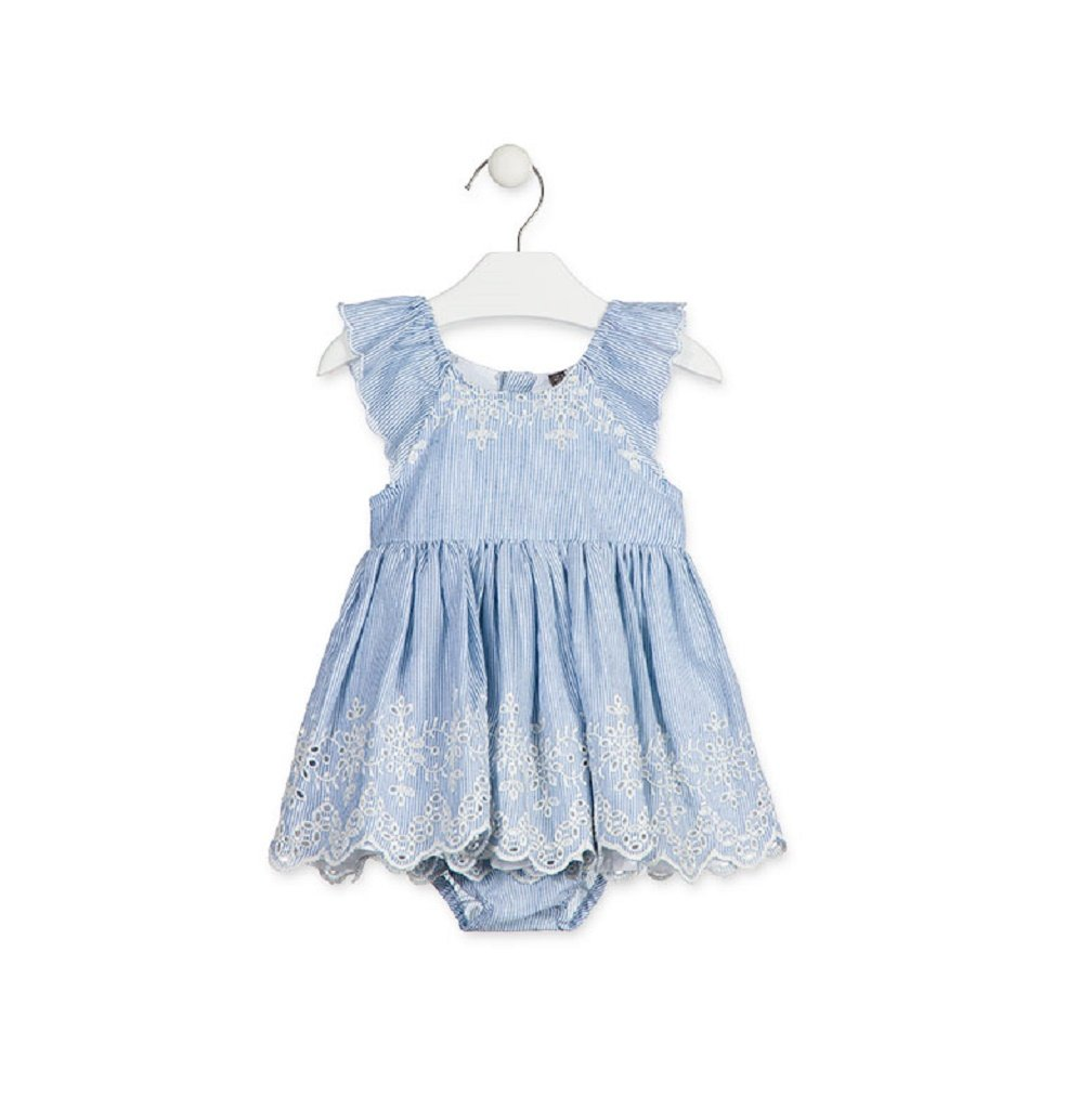 Losan Blue stripe dress with knickers