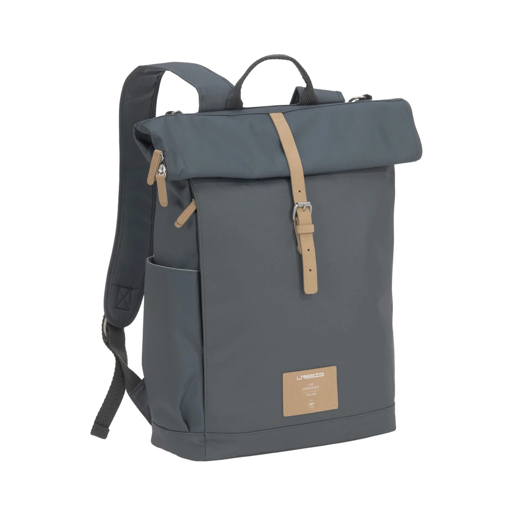 Lassig Green Label Diaper Rolltop Backpack in Anthracite