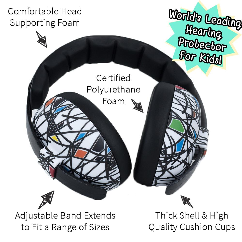 Banz Baby Infant Hearing Protection Earmuffs (2m+) in Sticks & Stones
