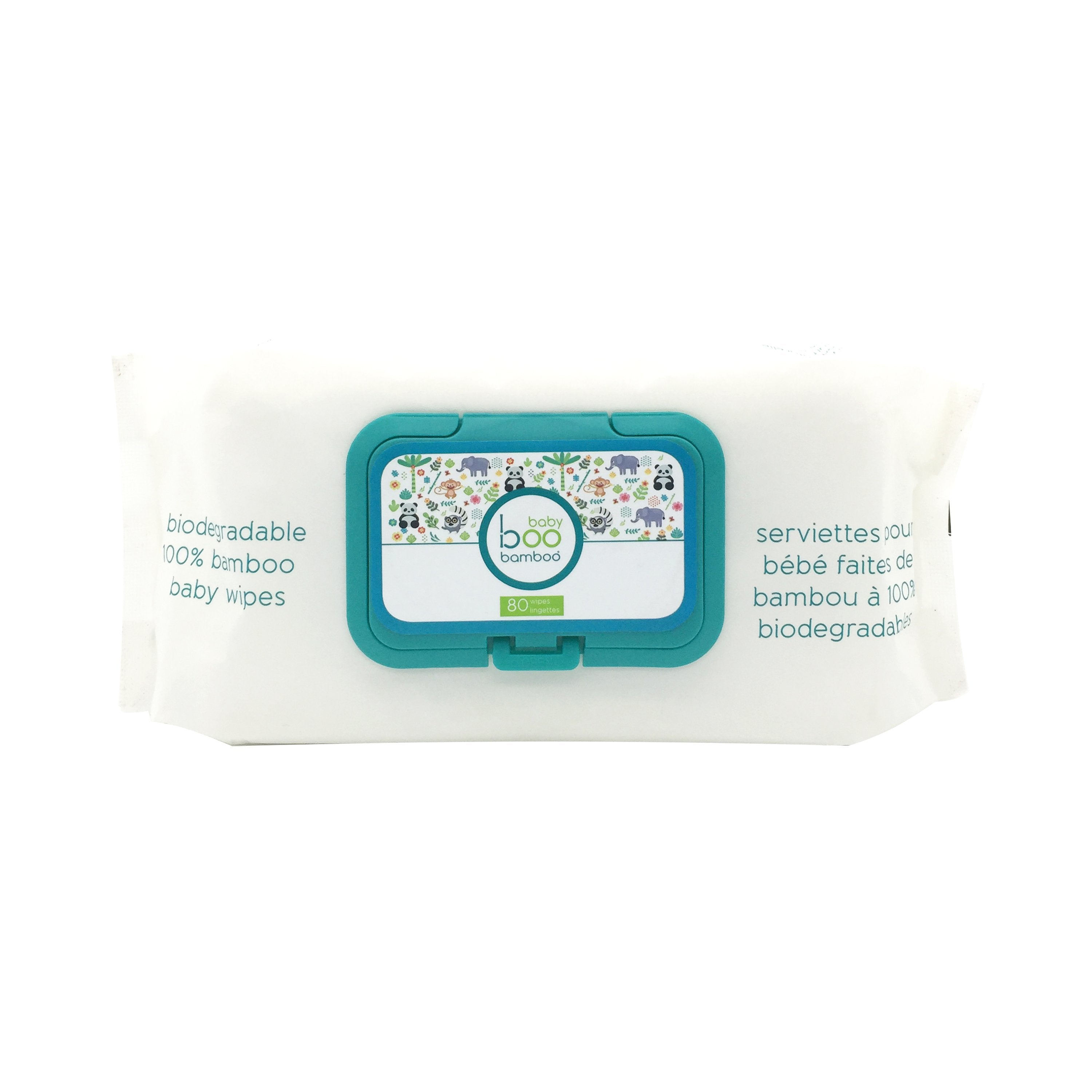 Baby Boo Bamboo Biodegradable Bamboo Baby Wipes - 80ct