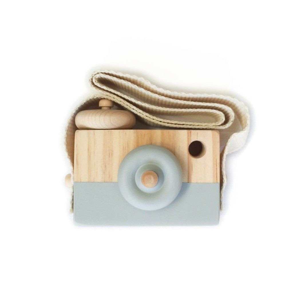 Lusso Wooden Toy Camera in Light Grey
