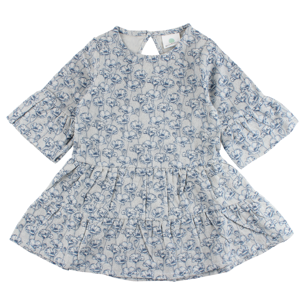 EN FANT Foggy Dew Ink Dress-Oekotex