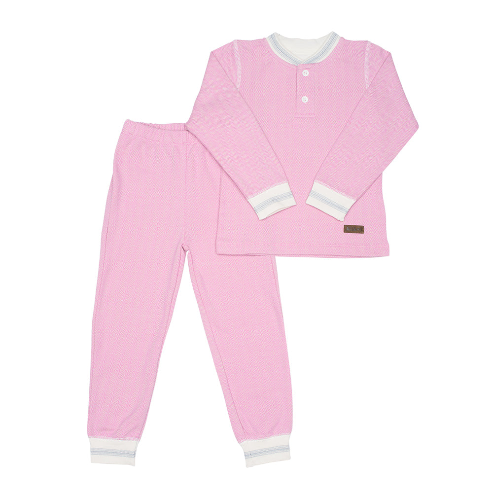 Juddlies Organic Cottage 2pc Pjs - Sunset Pink