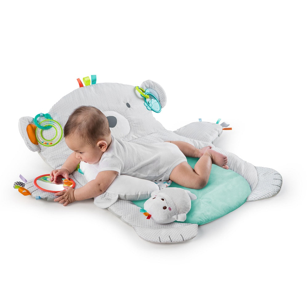 Bright Starts Tummy Time Prop & Play Grey Bear