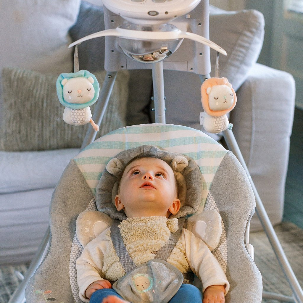 InGenuity Inlighten Cradling Swing - Landry Lion