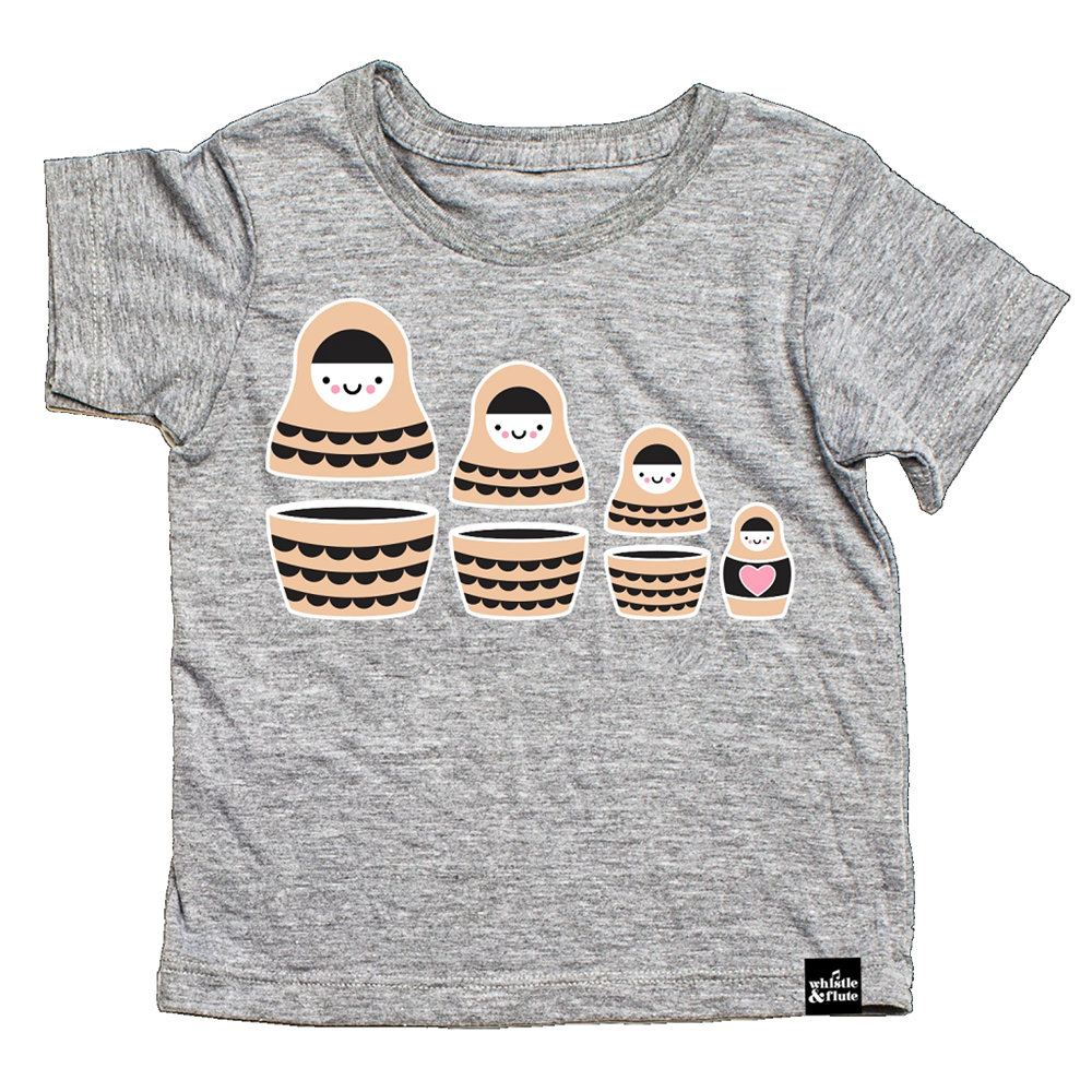 Whistle and Flute Kawaii Russian Doll T-Shirt