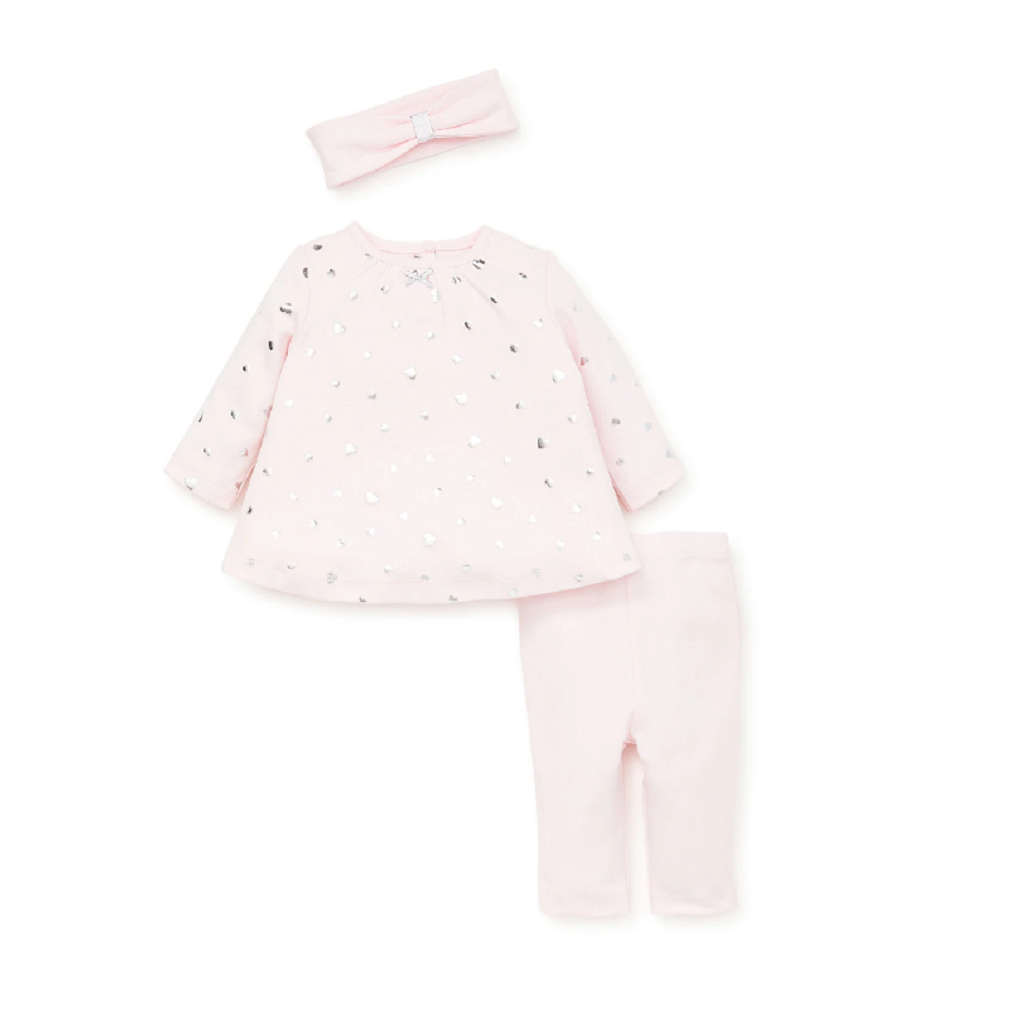 Little Me heart shine tunic set for baby