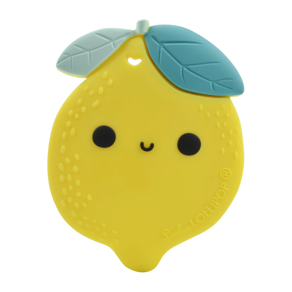 Loulou Lollipop Lemon Silicone Teether Single
