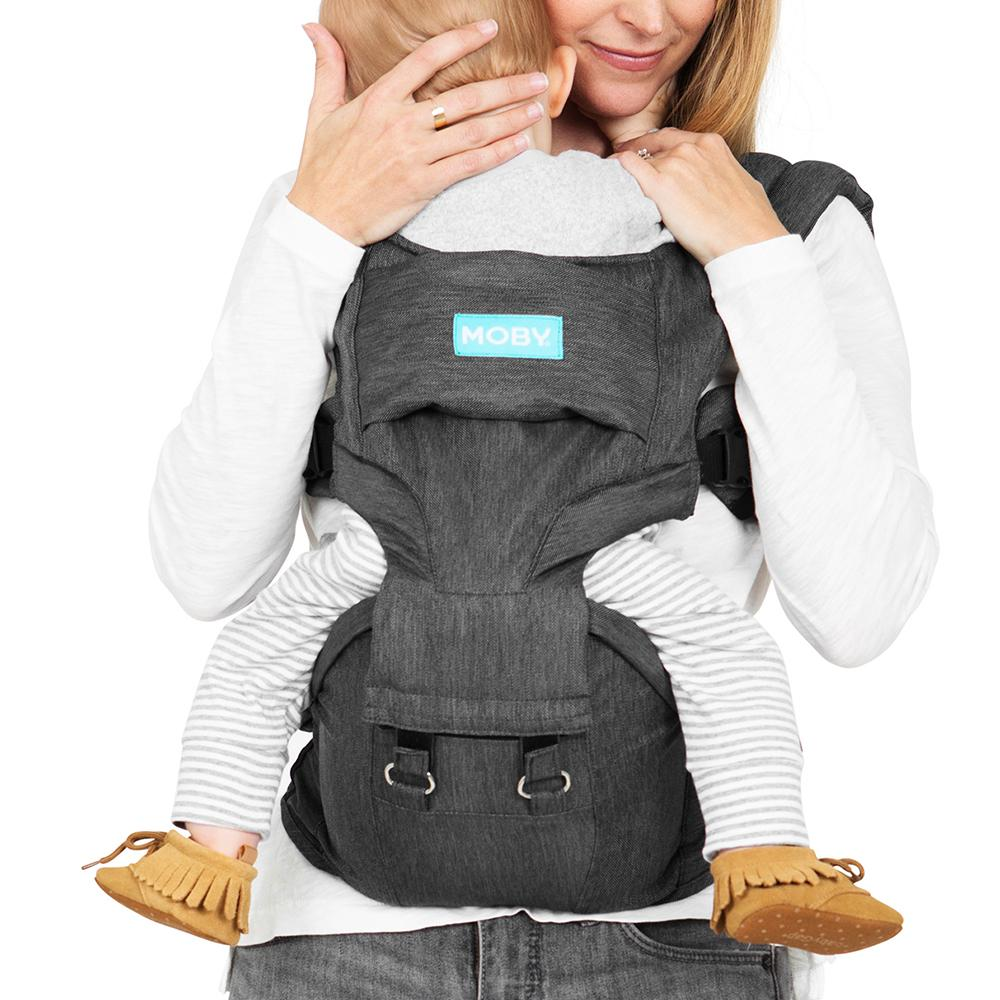 Moby 2IN1 Carrier & Hipseat - Grey