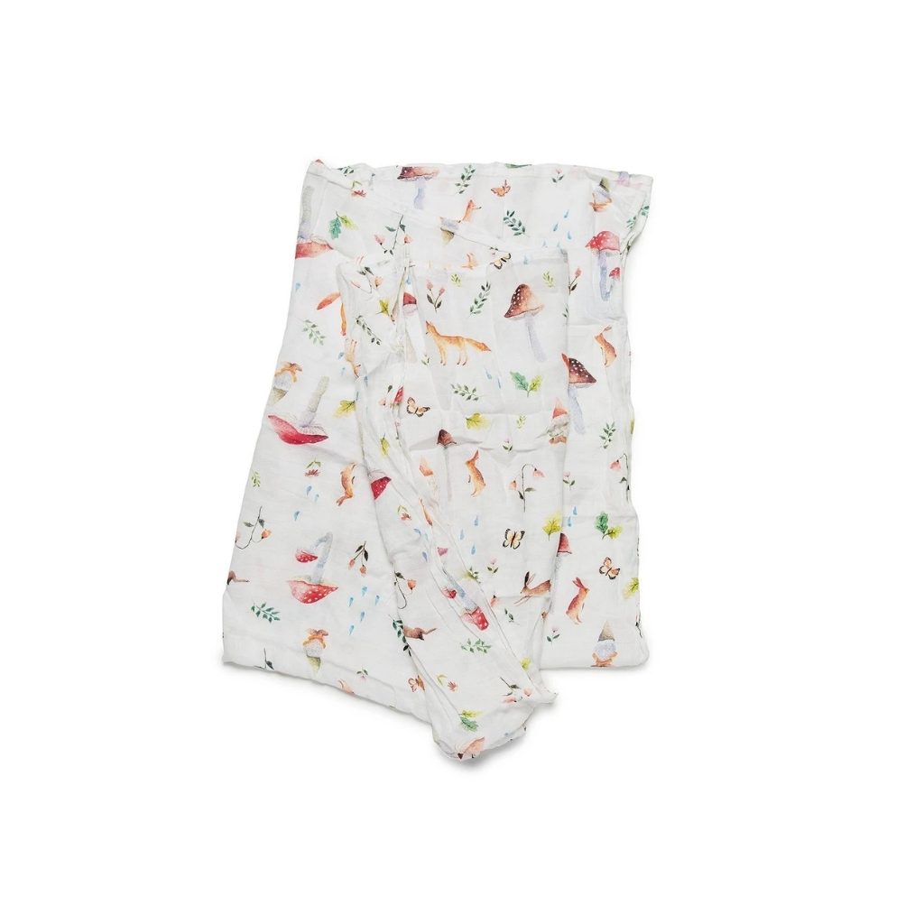 Loulou Lollipop LUXE MUSLIN SWADDLE - WOODLAND GNOME