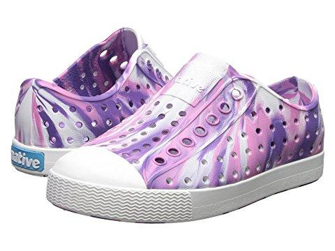 Native Shoes Jefferson Marbled Junior in STARFISH PURPLE / SHELL WHITE